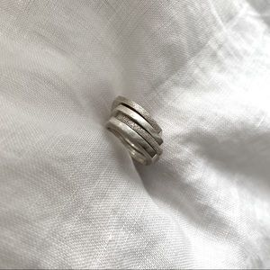 Silver Stack Ring Set of 4
